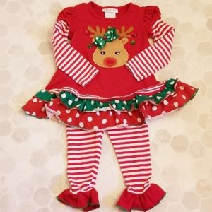 BONNIE JEAN red raindeer 2 piece